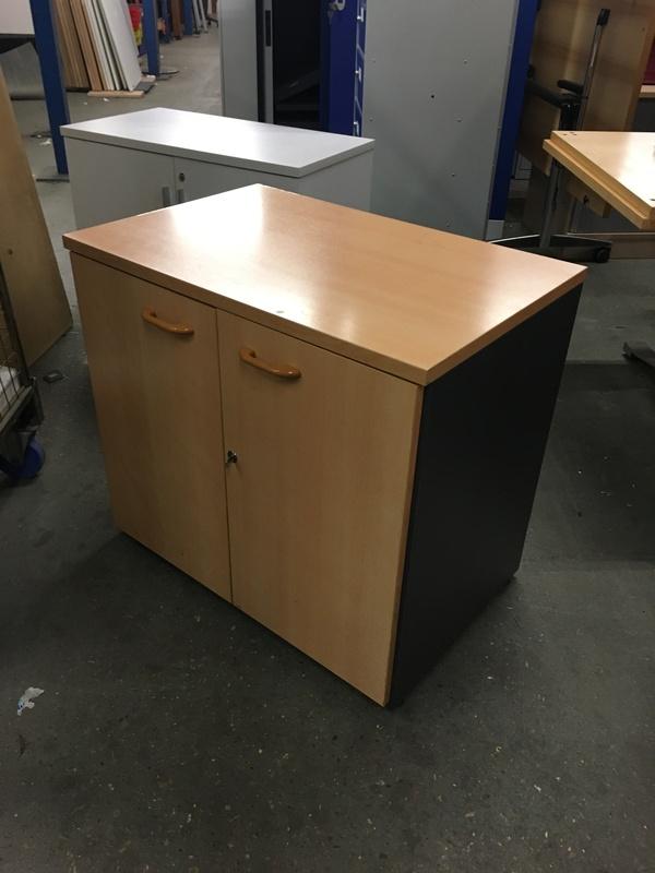 Desk high beech Sven cupboard