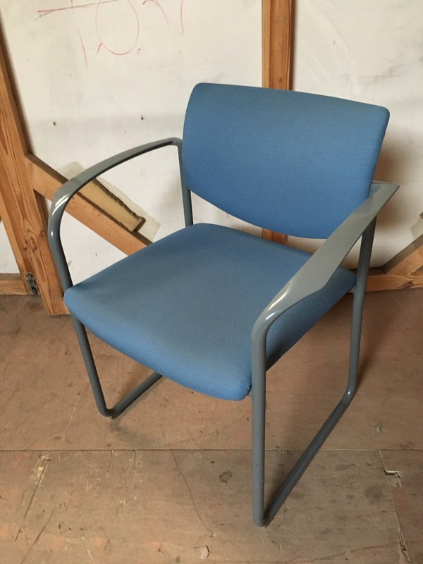 Light blue Steelcase Player meeting chairs
