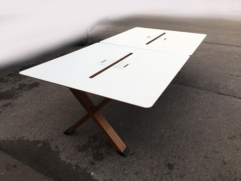 Koleksiyon Partita white bench desking, per user