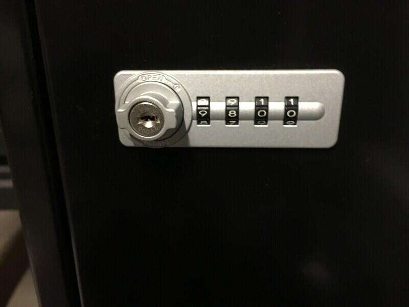Black metal 6 door lockers