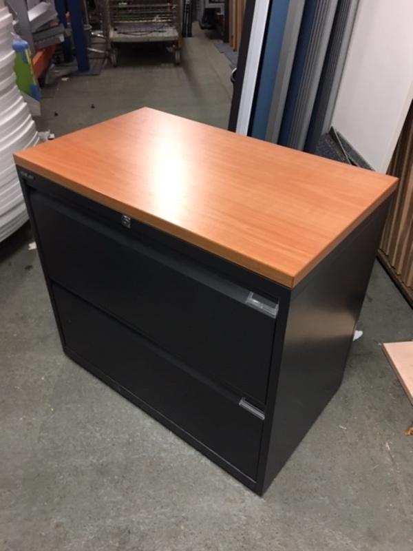 Bisley blackcherry 2 drawer side filers
