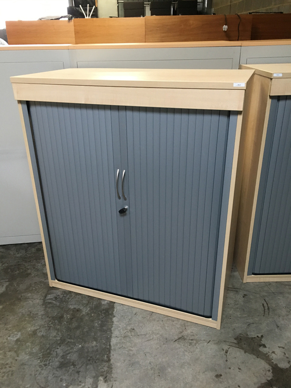 1200mm high maplesilver tambour cupboard