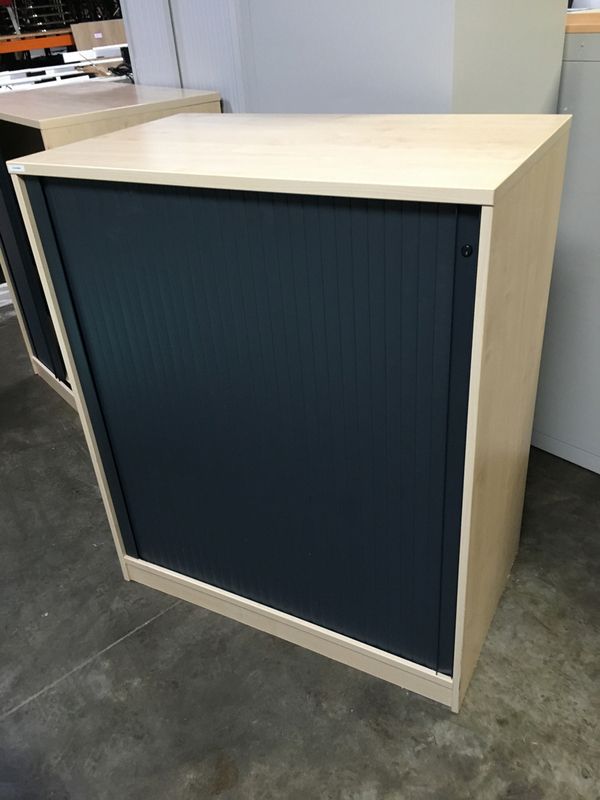 1200mm high maplegraphite tambour cupboard