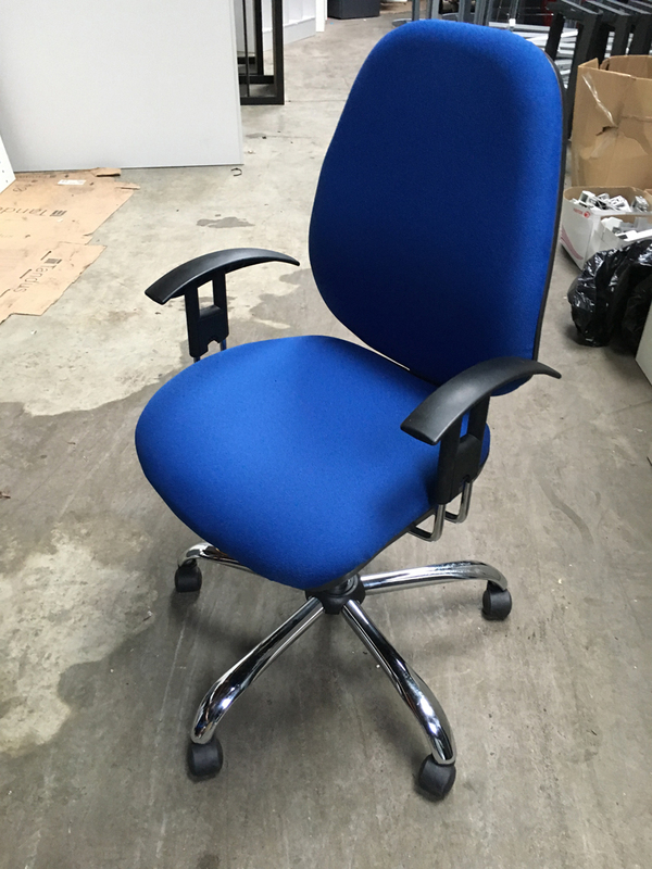 Royal blue 2 lever operator chair
