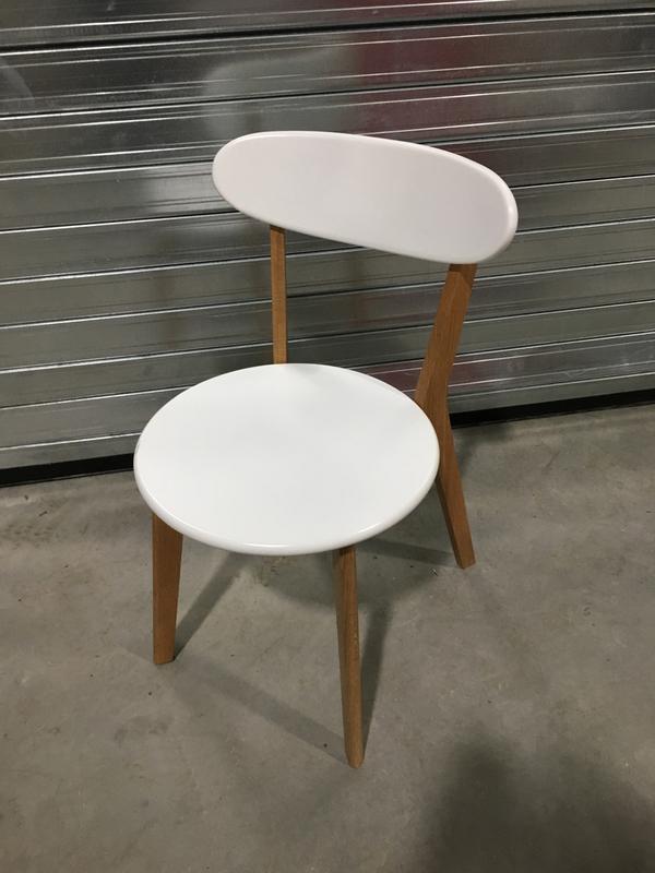 White 4 leg canteen chairs