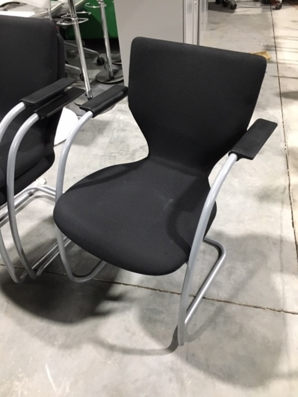 Black Orangebox X10 stacking cantilever chairs