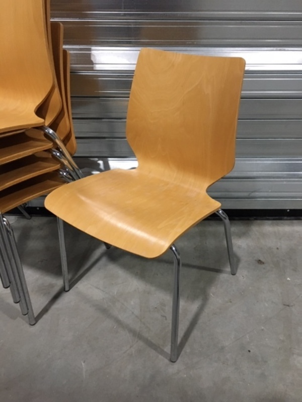 Plywood stacking chairs