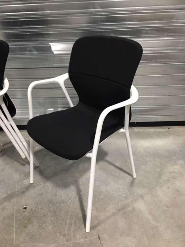 Black Herman Miller Keyn 4 leg stacking chairs