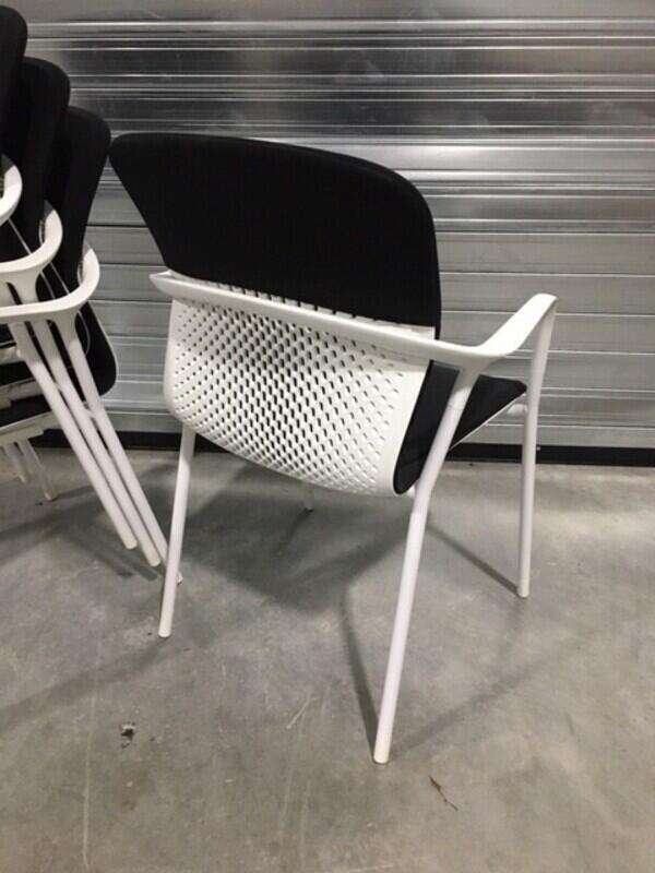 Black Herman Miller Keyn 4 leg stacking chairs
