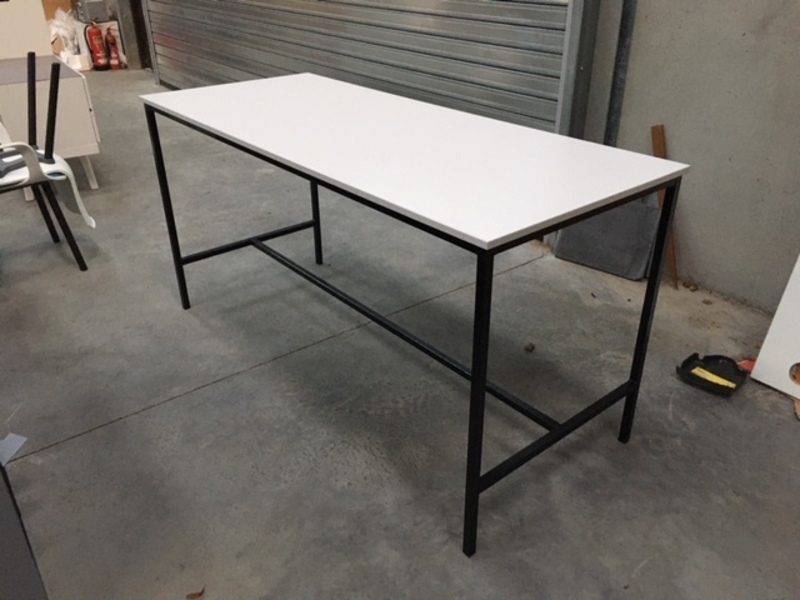 1800x750mm white poseur tables