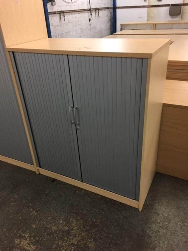 1200mm high Elite ash tambour cupboard