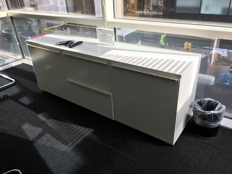 1800mm wide white credenza