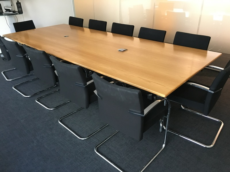 3400x1380mm Vitra Segmented oak veneer table