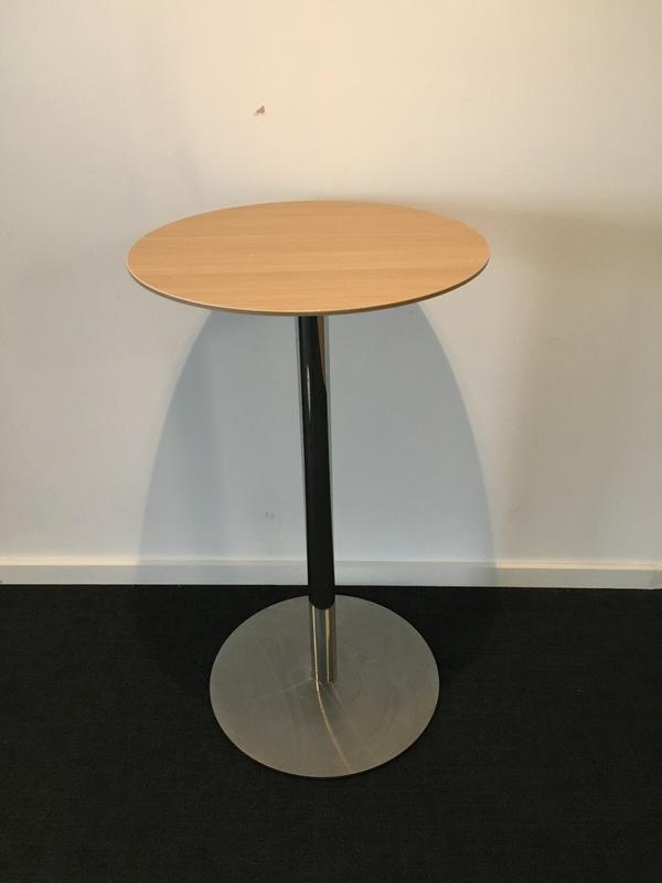 800mm diameter beech Senator poseur table