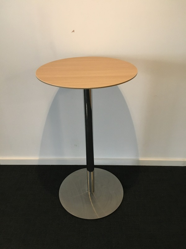 800mm diameter beech Senator poseur table