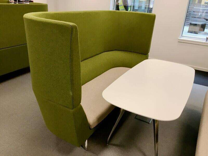 Green/grey Orangebox Cwtch acoustic 3 seater sofas