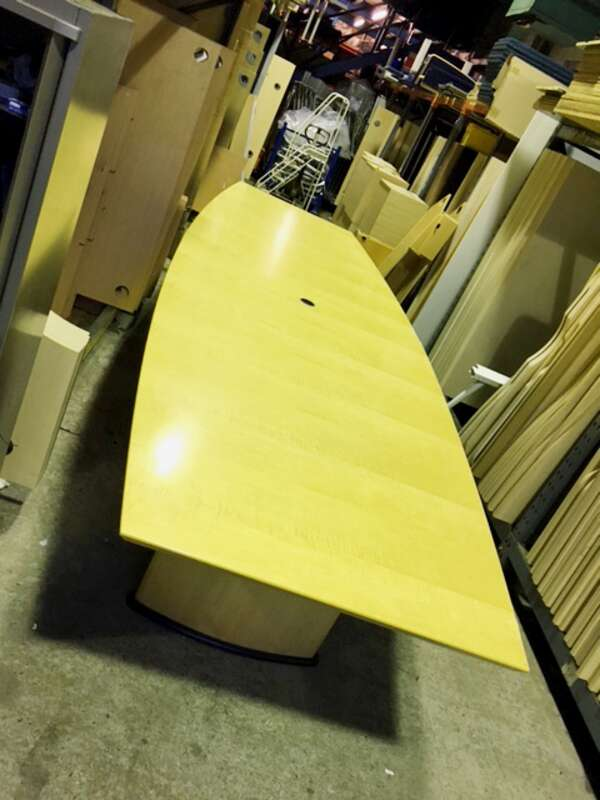 5000x15001100mm Sven maple barrel shape boardroom table