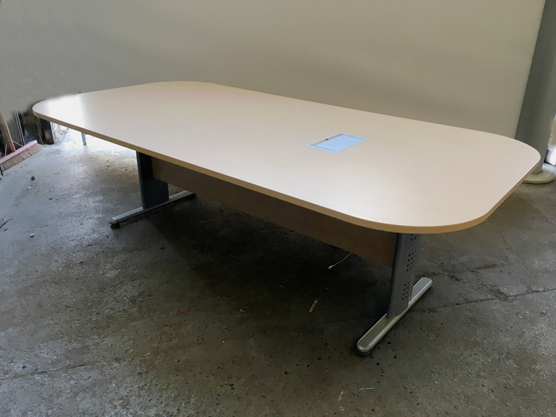 2400x1200mm maple rectangular  shaped table