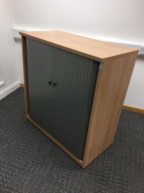 1065mm high beech tambour cupboard