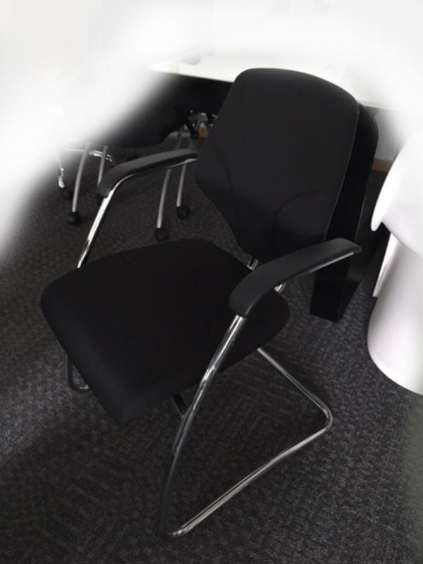 Black Orangebox Giroflex G64 cantilever meeting chair
