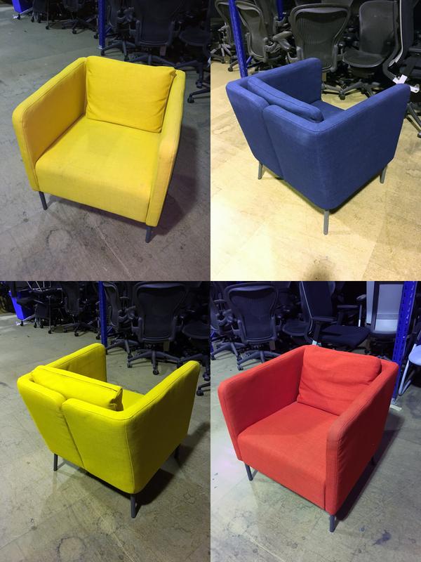 Ikea split back armchairs