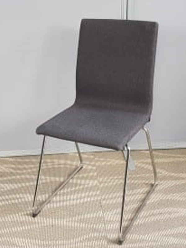 Grey stacking meeting chairs