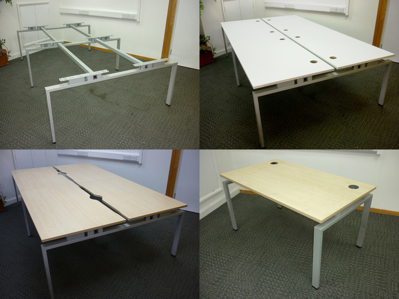 Jigsaw 1400mm bench desk frames with NEW tops of your choice