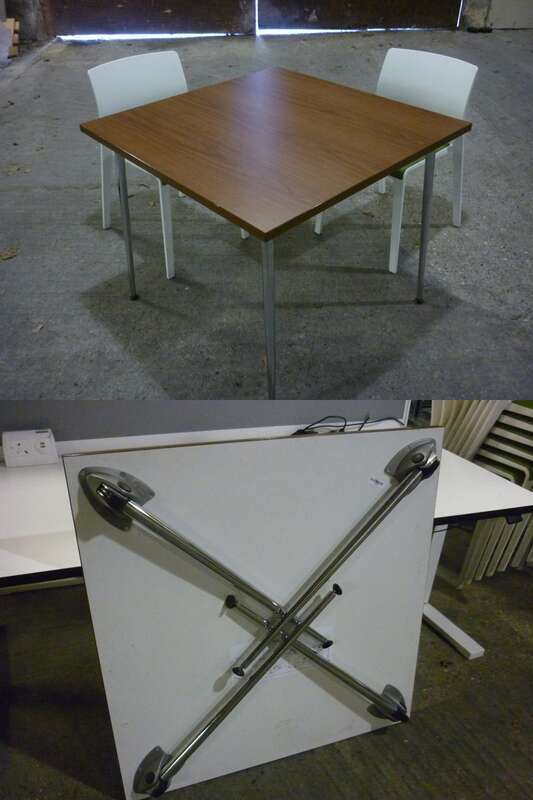 Kusch and Co 900mm square folding leg tables