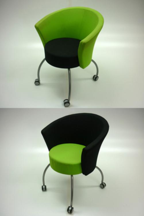 Bobbin lime greenblack receptionmeeting chairs