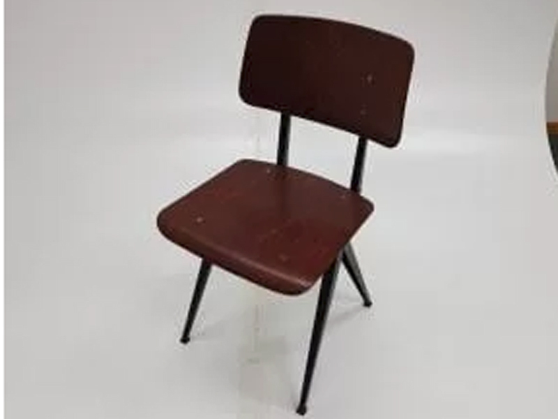 School style mahogany/black chairs