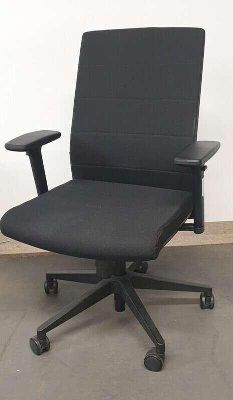 Mobili Nero Black Task Chair