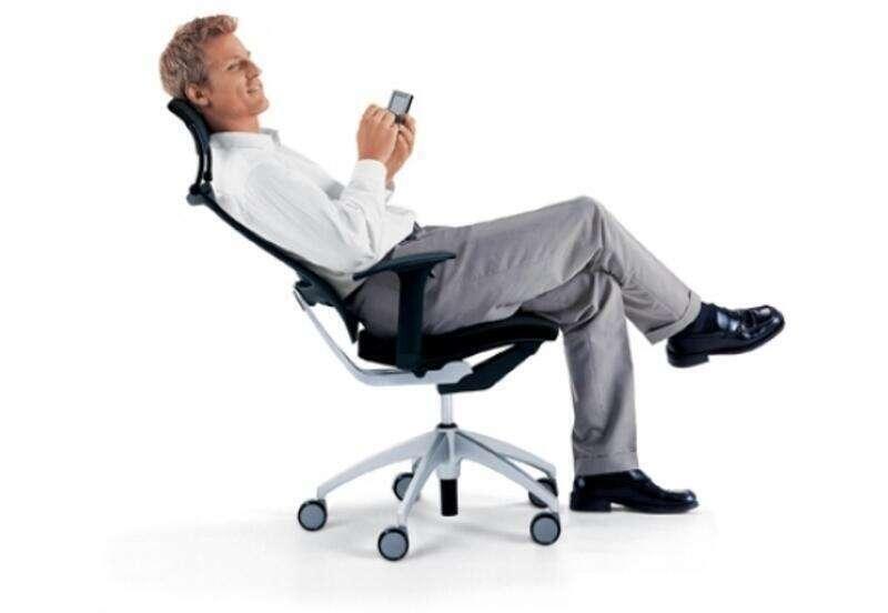 Black leather mesh back Sedus Open Up task chair