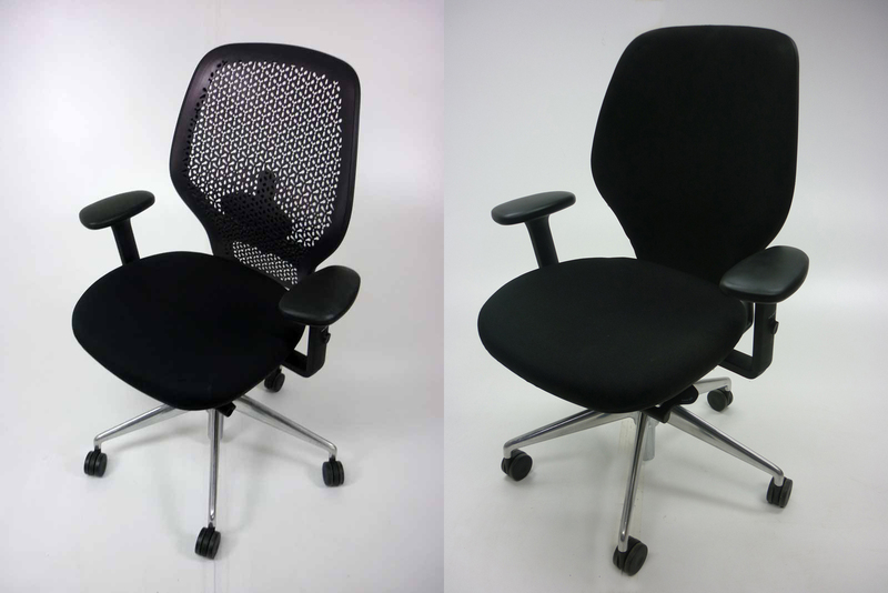 Orangebox ARA task chair with arms in black