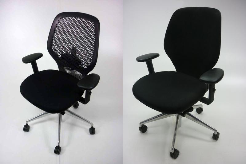 Orangebox ARA task chair with arms in black