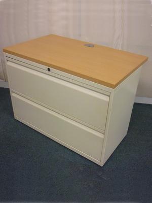 Bisley creambeech 2 drawer side filers