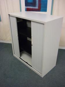 1180mm high white Triumph tambour cupboard