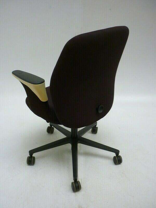 Vitra Worknest brown task chairs