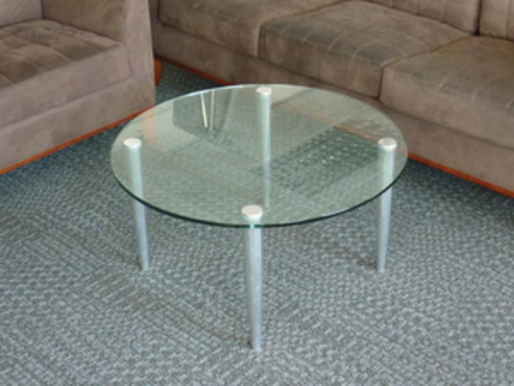 800mm diameter circular glass coffee table