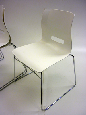 CSI white shell stacking chair CE