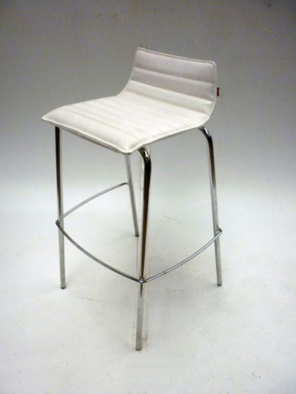 Task white leather stools
