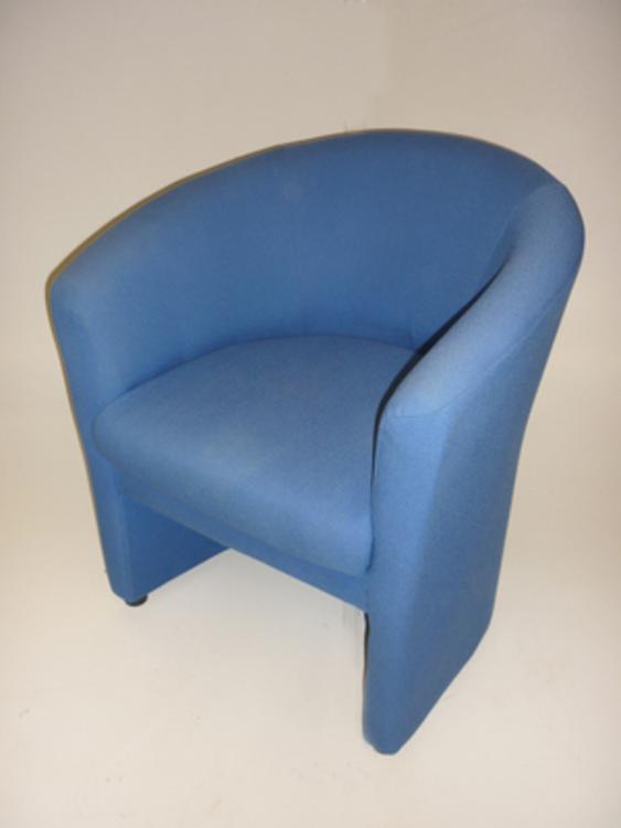 Verco Roma blue fabric tub chair