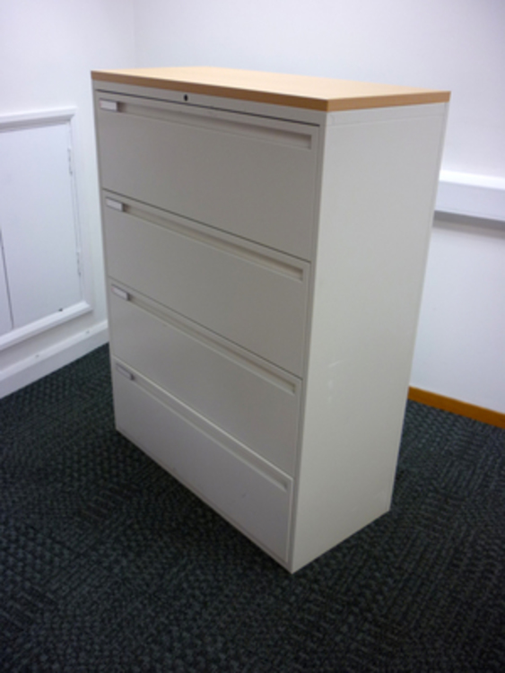 White/beech KI 4 drawer side filers