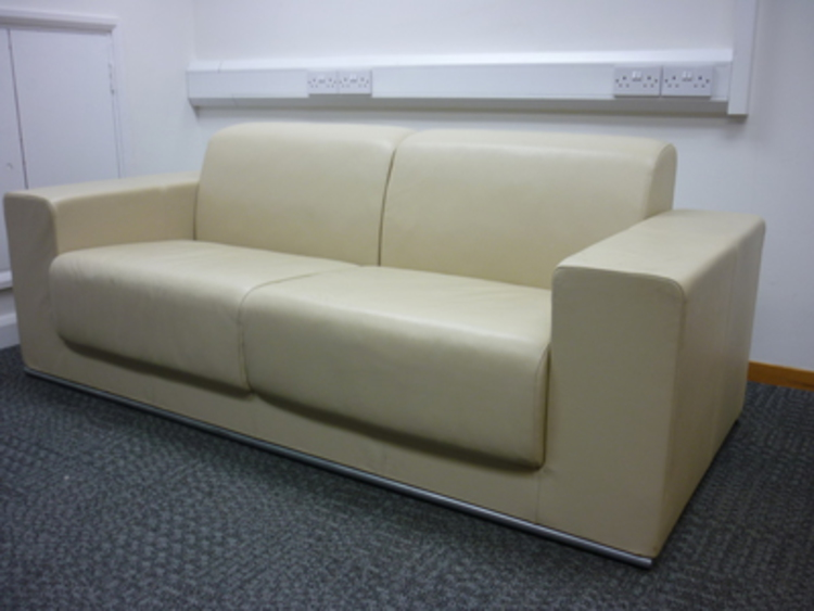2 seater leather sofa (CE)