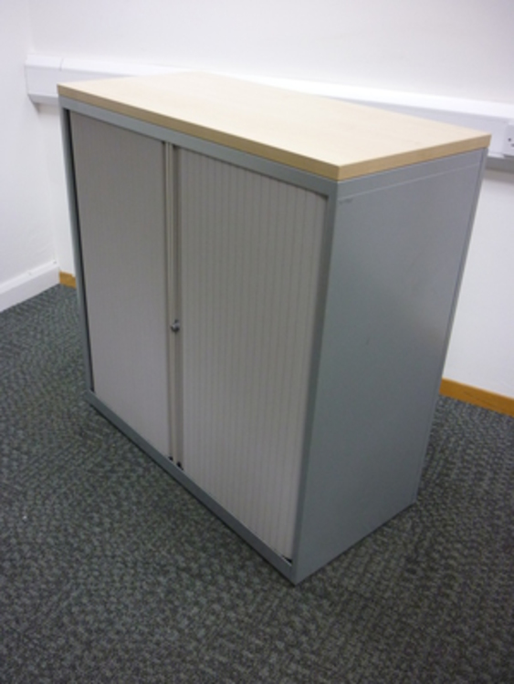 1030mm high maple top tambour cupboard