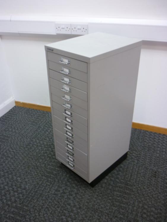 Bisley grey multi drawer unit