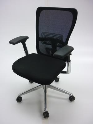 Haworth Zody Black fabricmesh task chair
