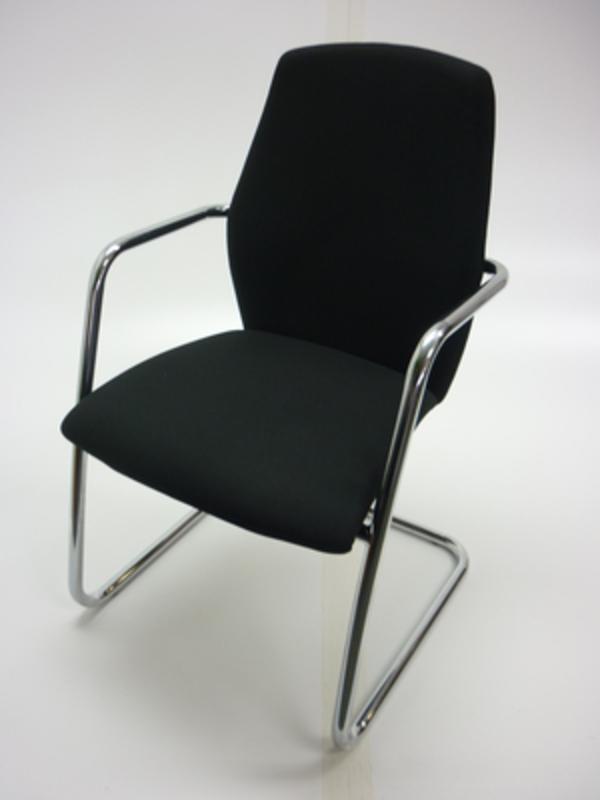 Sitland black fabric meeting chair