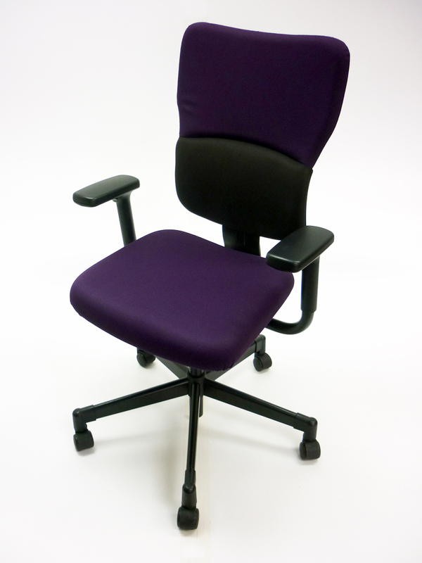 Steelcase Lets B purple/black task chair