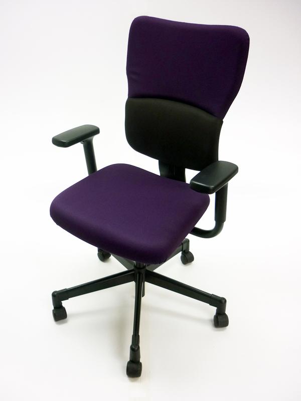Steelcase Lets B purpleblack task chair