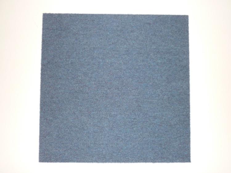 500w x 500d mm blue carpet tiles